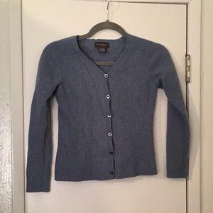 Banana Republic Blue/Gray 100% Cashmere Cardigan